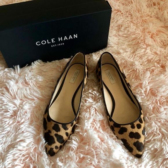 Cole Haan Leopard Print Flats